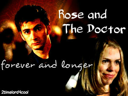 Rose & The Doctor 바탕화면 containing a portrait entitled Doc/Rose <3