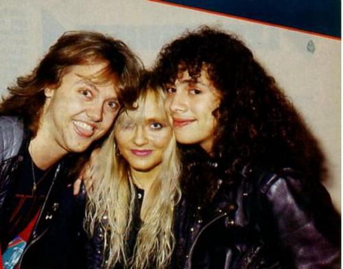 Doro with Lars Urlich and Kirk Hammett (Metallica)