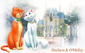 Duchess and O'Malley - the-aristocats wallpaper