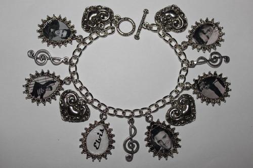 ELVIS PRESLEY artisan charm bracelet