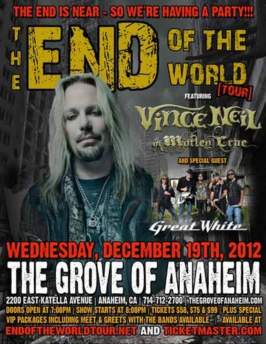 END OF THE WORLD TOUR w/ VINCE NEIL & GREAT WHITE