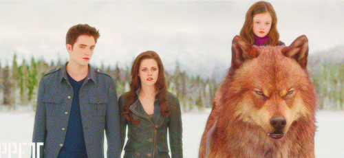 Edward, Bella , Renesmee & Jake