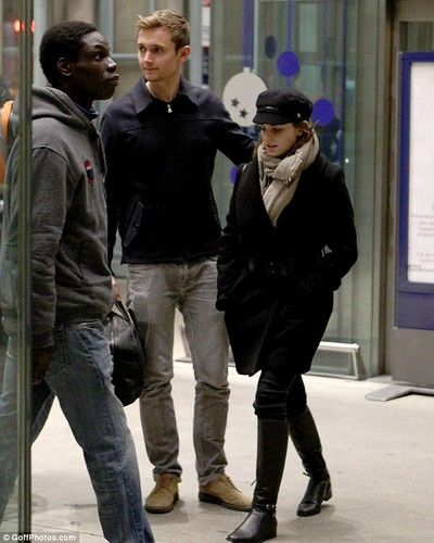 Emma Watson and her publicist in Paris [23 November]