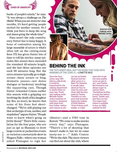 Entertainment Weekly. Sons of Anarchy (feature) Scans
