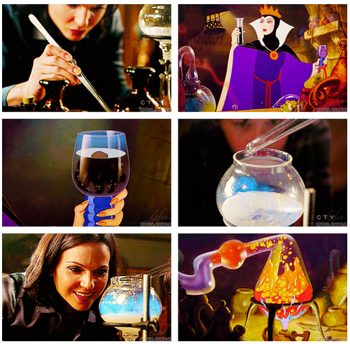 Evil Queen making a sleeping curse