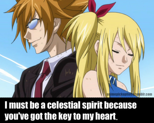 Fairy Tail Pick-Up Line