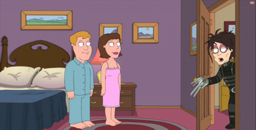 Family Guy with Edward Scissorshands!