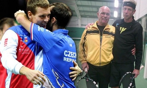 Fathers Stepanek and Berdych