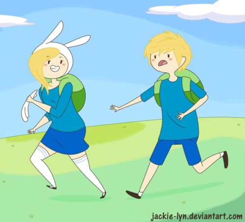 Adventure Time With Finn and Jake wallpaper with anime titled Fionna And Finn