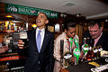 First Lady Michelle And Husband Barack Visiting A Pub In Ireland