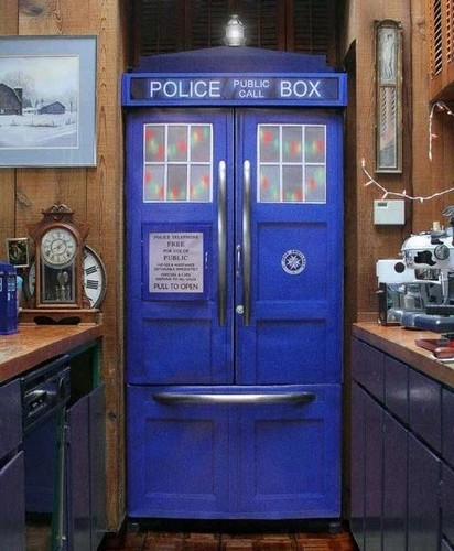 doctor who fondo de pantalla entitled Funny- Tardis fridge!!!