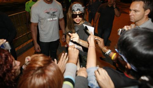Gaga meeting 粉丝 in Lima, Peru