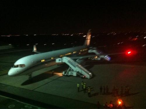Gaga's plane in Johannesburg
