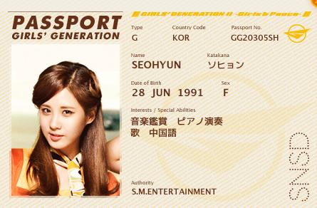 "Girls' Generation passports for ""Girls' & Peace"""
