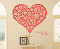 Heart Flower Wall Sticker - home-decorating photo