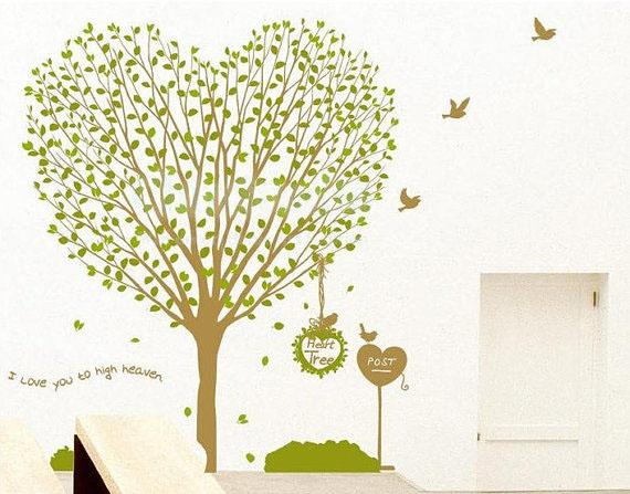 Heart Tree I Love You To High Heaven Wall Sticker Home
