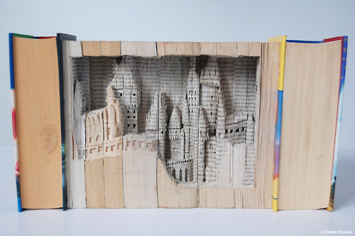 Hogwart Book Sculpture