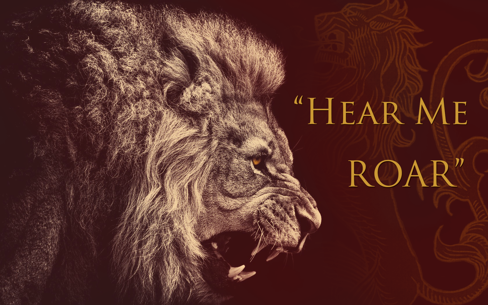 Game of Thrones House LannisterRoaring Lion Hd Wallpapers 1920x1080