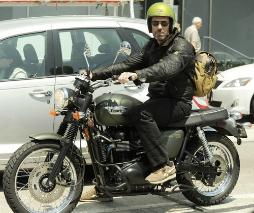 Hugh Laurie wallpaper with a motorcycle cop entitled Hugh Laurie 2009