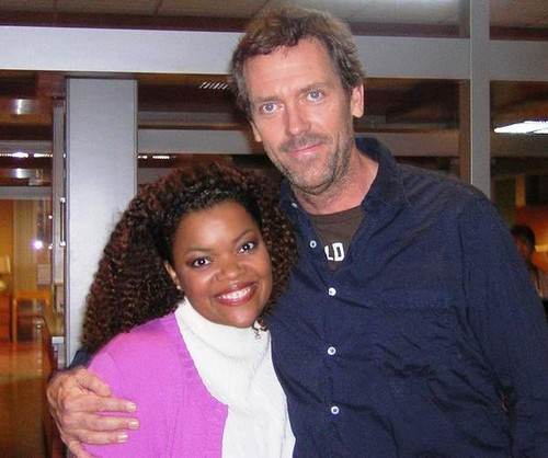 Hugh Laurie and Yvette Nicole Brown