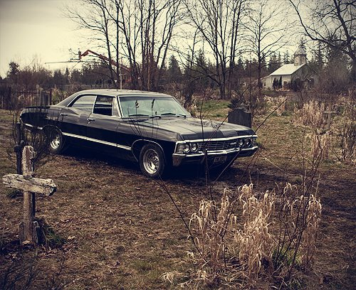 Supernatural wallpaper probably with a sedan, a beach wagon, and a sport utility entitled Impala