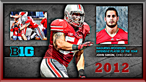 JOHN SIMON 2012 B1G DEFENSIVE PLAYER OF THE año