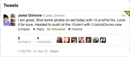 Jared Gilmore Twitter
