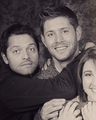 Jensen & Misha - Photo-op - jensen-ackles-and-misha-collins photo