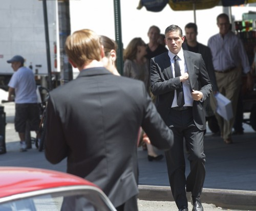"John Reese wallpaper with a business suit, a suit, and a street entitled John Reese || 1x03 ""Masquerade."""