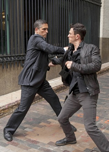 "John Reese वॉलपेपर with a business suit, a well dressed person, and a suit called John Reese || 2x04 ""Triggerman."""