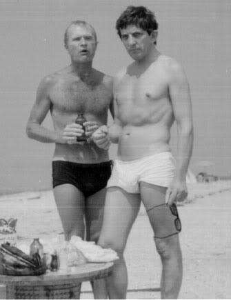 Jonathan Frid and Louis Edmonds