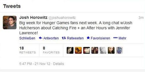 Josh Horowitz about Jennifer,Josh and Catching feuer