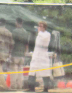 Josh on set of Catching 火, 消防 in Hawaii