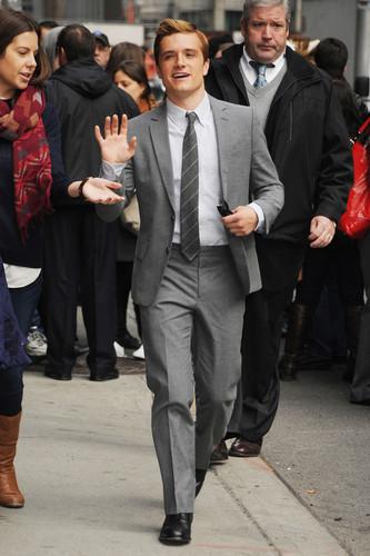 "Josh visits ""Late mostrar With David Letterman"