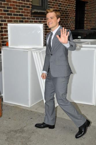 "Josh visits ""Late 显示 With David Letterman"