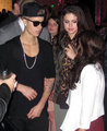 Justin and Selena at the after party AMAs - justin-bieber-and-selena-gomez photo