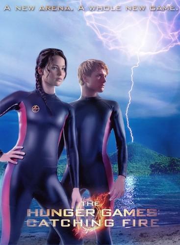 Katniss & Peeta- Catching apoy