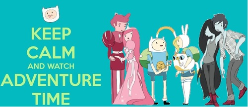 Adventure Time With Finn and Jake wallpaper probably containing scissors and anime entitled Keep Calm and Watch Adventure Time