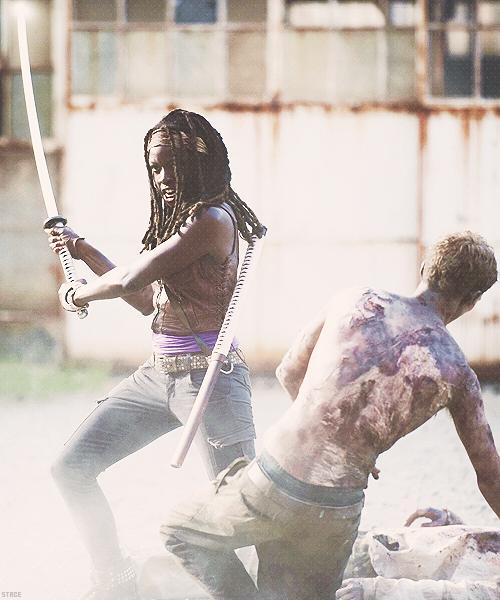 Kickin' toosh Michonne