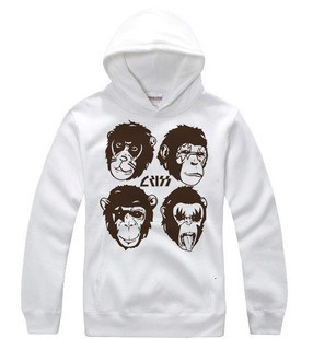 Ciuman Rock Band monkey head logo hoodie