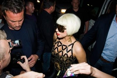 Lady Gaga arriving in Johannesburg