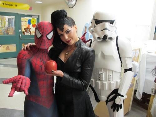 Lana Parrilla at Childreens hospital