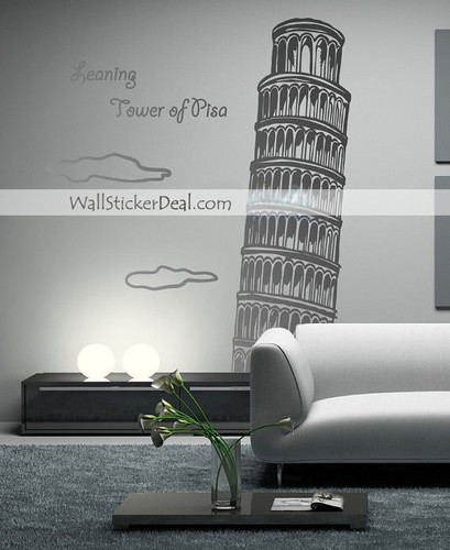 Leaning Tower of Pisa Стена Sticker