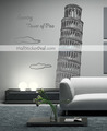 Leaning Tower of Pisa Wall Sticker - home-decorating photo
