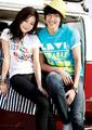 Lee Min Ho and Moon Chae Won for Levis ads