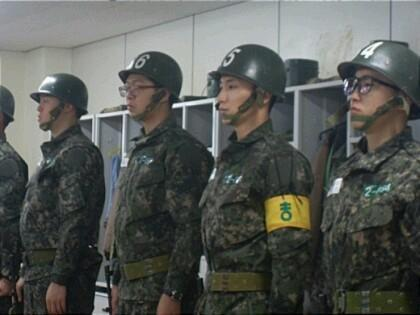 Leeteuk in the army.