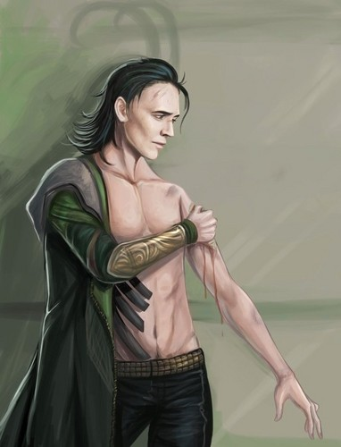 Loki (Thor 2011) achtergrond possibly containing a cocktail dress, a garment, and a hip boot entitled Loki