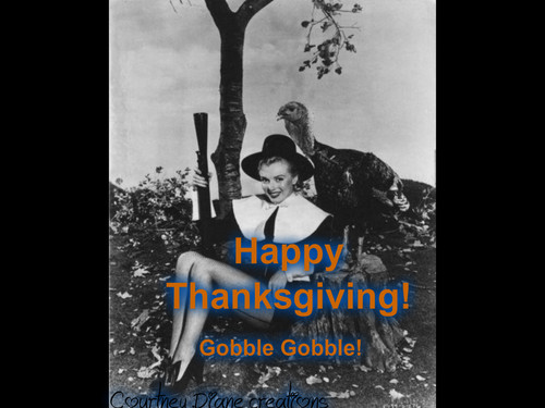 Marilyn Monroe and turkey