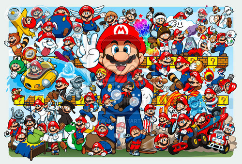 super mario bros wallpaper probably with animê titled Mario