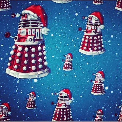 Doctor Who karatasi la kupamba ukuta called Merry Christmas! :D